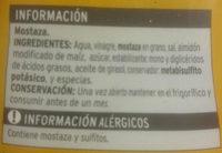 Mostaza - Ingredientes