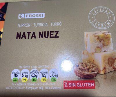 Turrón nata nuez - Product - es