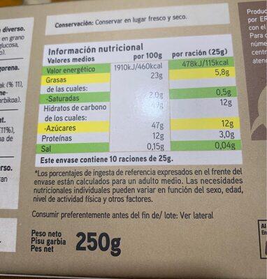 Turrón nata nuez - Nutrition facts - es