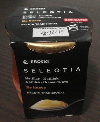 Natillas (Huevo) Eroski Seleqtia