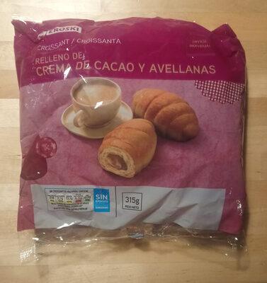 Croissant relleno de crema de cacao y avellanas - Product