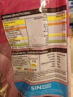 Croissant relleno de crema de cacao y avellanas - Informations nutritionnelles - es