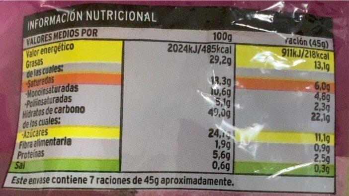 Croissant relleno de crema de cacao y avellanas - Voedingswaarden - es