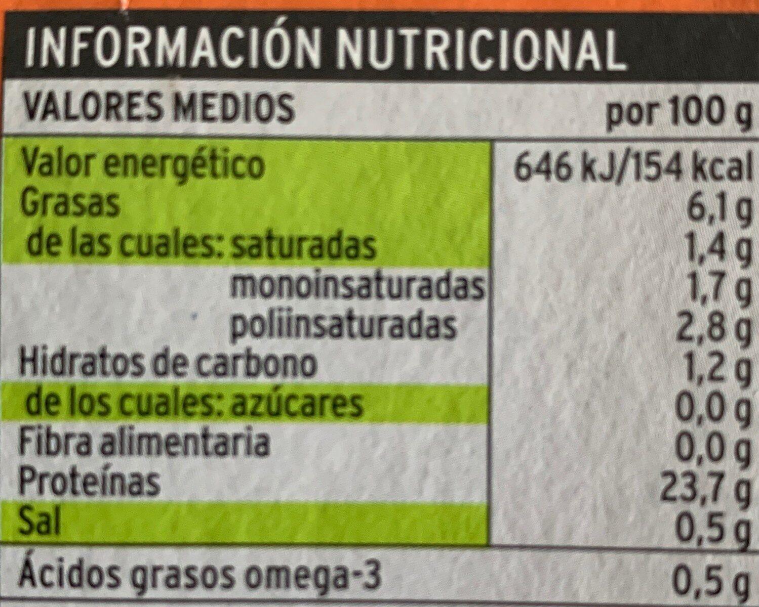 Caballa del sur en escabeche - Informació nutricional - es