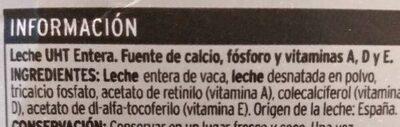 Leche entera con calcio - Ingredients