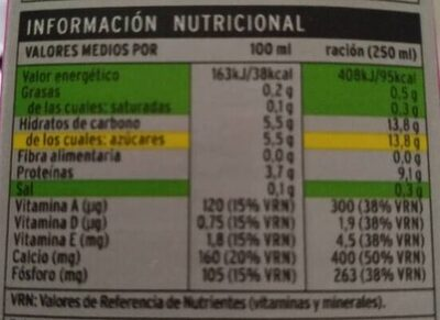Leche desnatada calcio - Nutrition facts