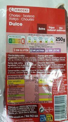 Chorizo dulce - Produit - fr