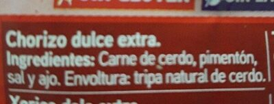Chorizo dulce - Ingrédients - fr