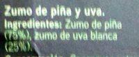 zumo de piña y uva - Ingredients