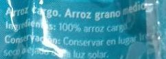 Sannia - Arroz integral - Ingredients