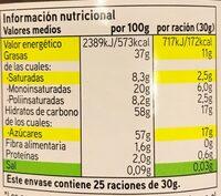 Crema de cacao 1 sabor - Informació nutricional - es