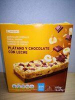 Barritas de cereales: plátano y chocolate con leche - Producte - es