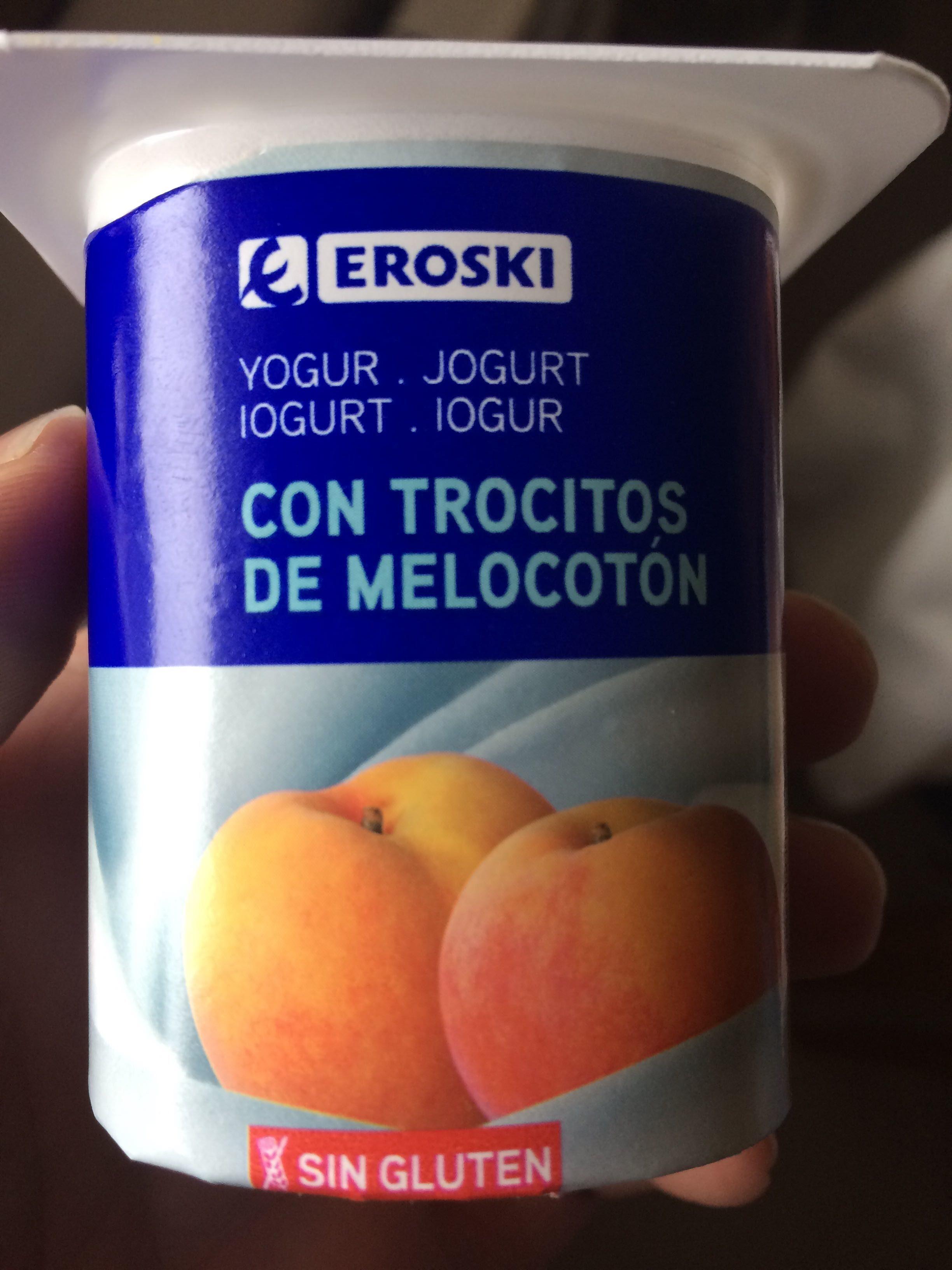 Yogur con trocitos de melocotón - Producto - es