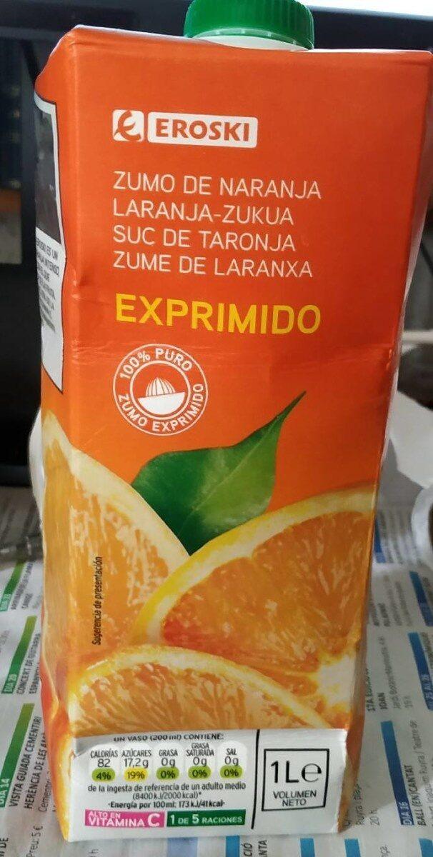 Zumo de naranja exprimido - Product - es