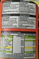 Zumo de naranja exprimido - Voedingswaarden - es