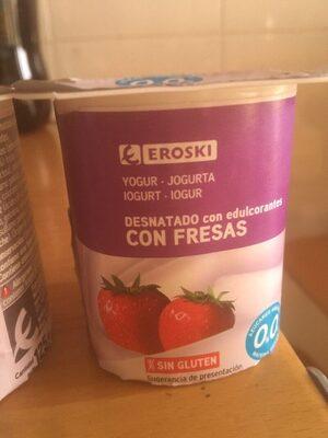 Yogur desnatado con edulcorantes con fresas 0%