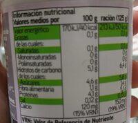 Yogur desnatado con edulcorantes con fresas 0% - Informació nutricional