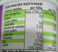 Yogur desnatado eroski - Informació nutricional