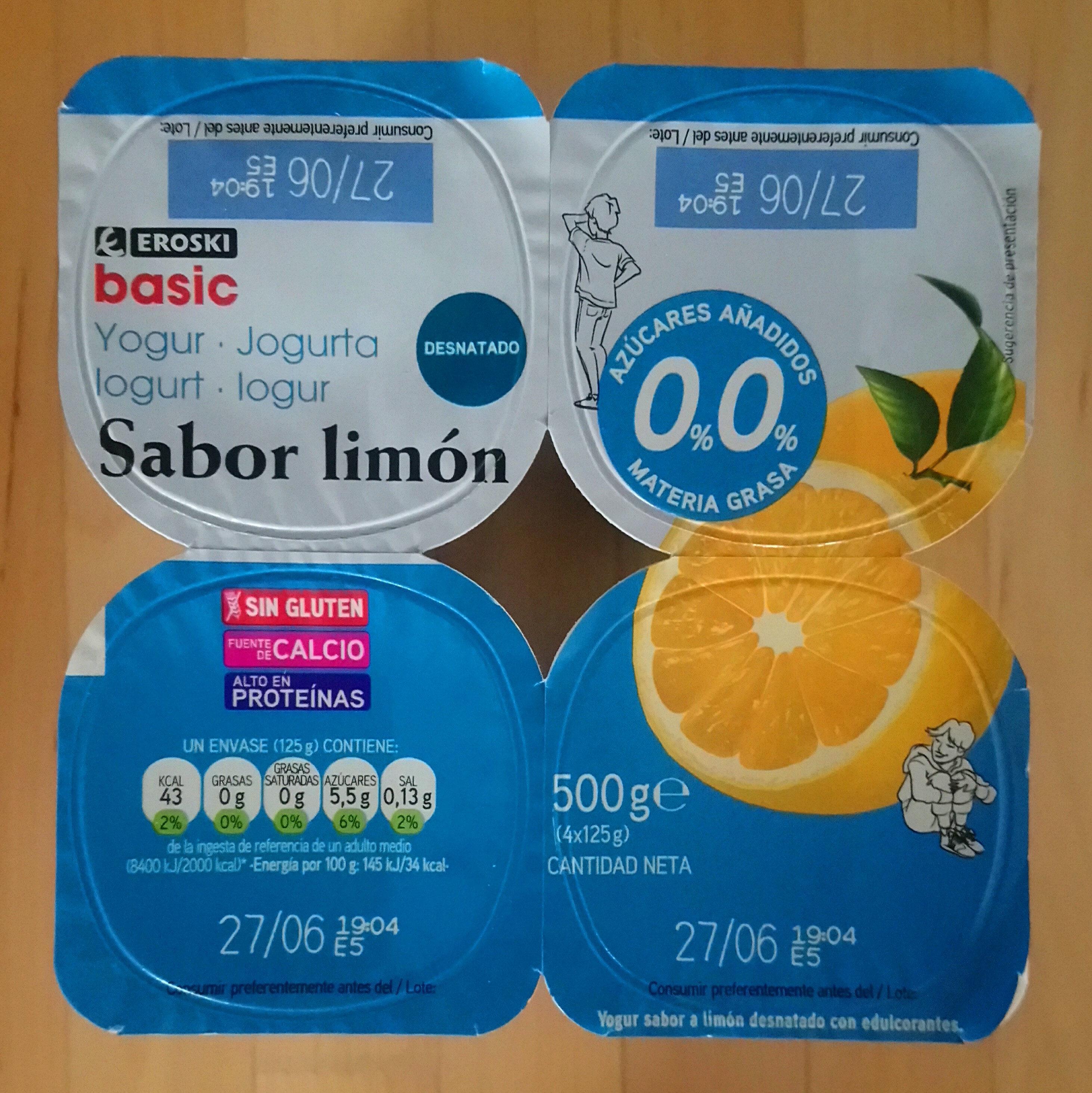 Yogur sabor limón - Producte