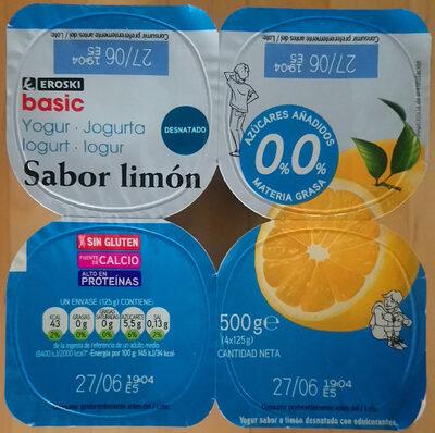 Yogur sabor limón - Producto - es