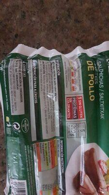 Salchichas de pollo - Ingredientes - es