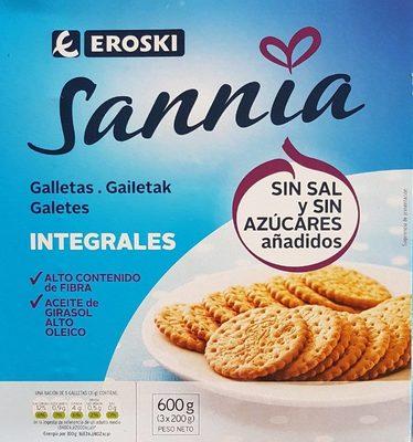 Sannia - Galletas integrales - Producto