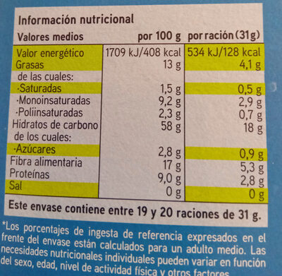 galletas Eroski sin sal y sin azúcares añadidos - Información nutricional - es