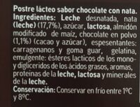 Copa chocolate y nata - Ingredients - es