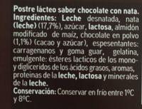 Copa chocolate y nata - Ingredientes