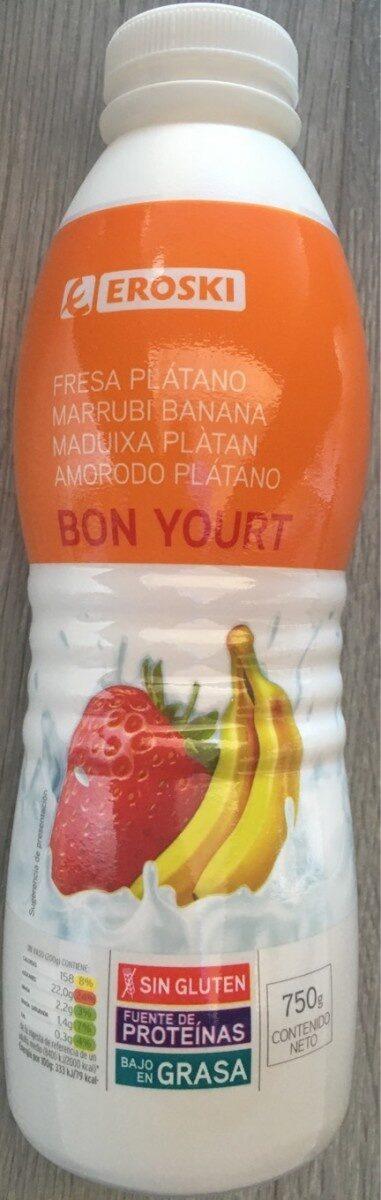 Bon yourt fresa plátano - Produit - es
