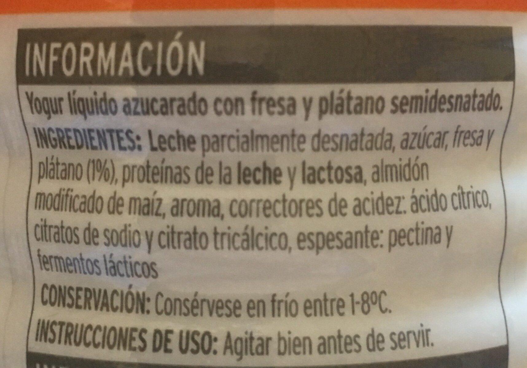 Bon yourt fresa plátano - Ingrédients - es