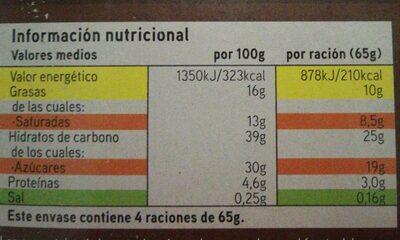Cono chocolate - Informations nutritionnelles - es