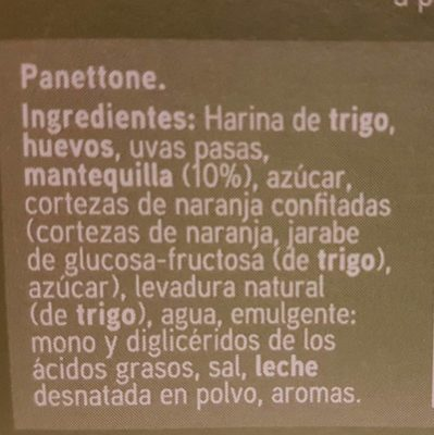 Panettone - Ingredientes