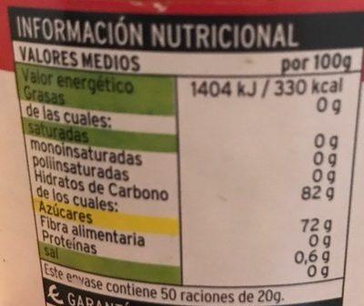 Miel de mil flores - Informations nutritionnelles - fr