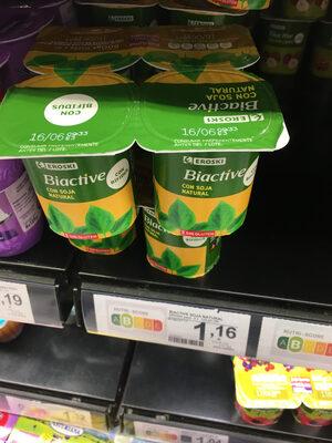Yogur biactive con soja - Producte - es
