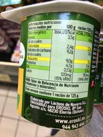 Yogur biactive con soja - Informació nutricional - es