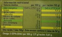 Atun Claro en aceite de oliva - Nutrition facts