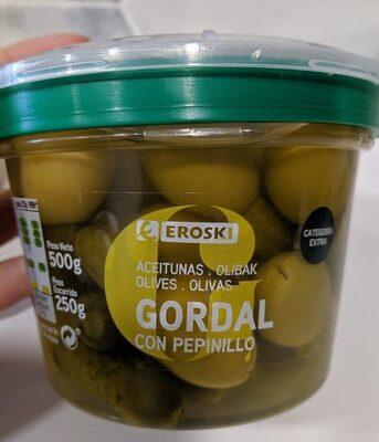 Aceitunas gordal con pepinillo - Product - es