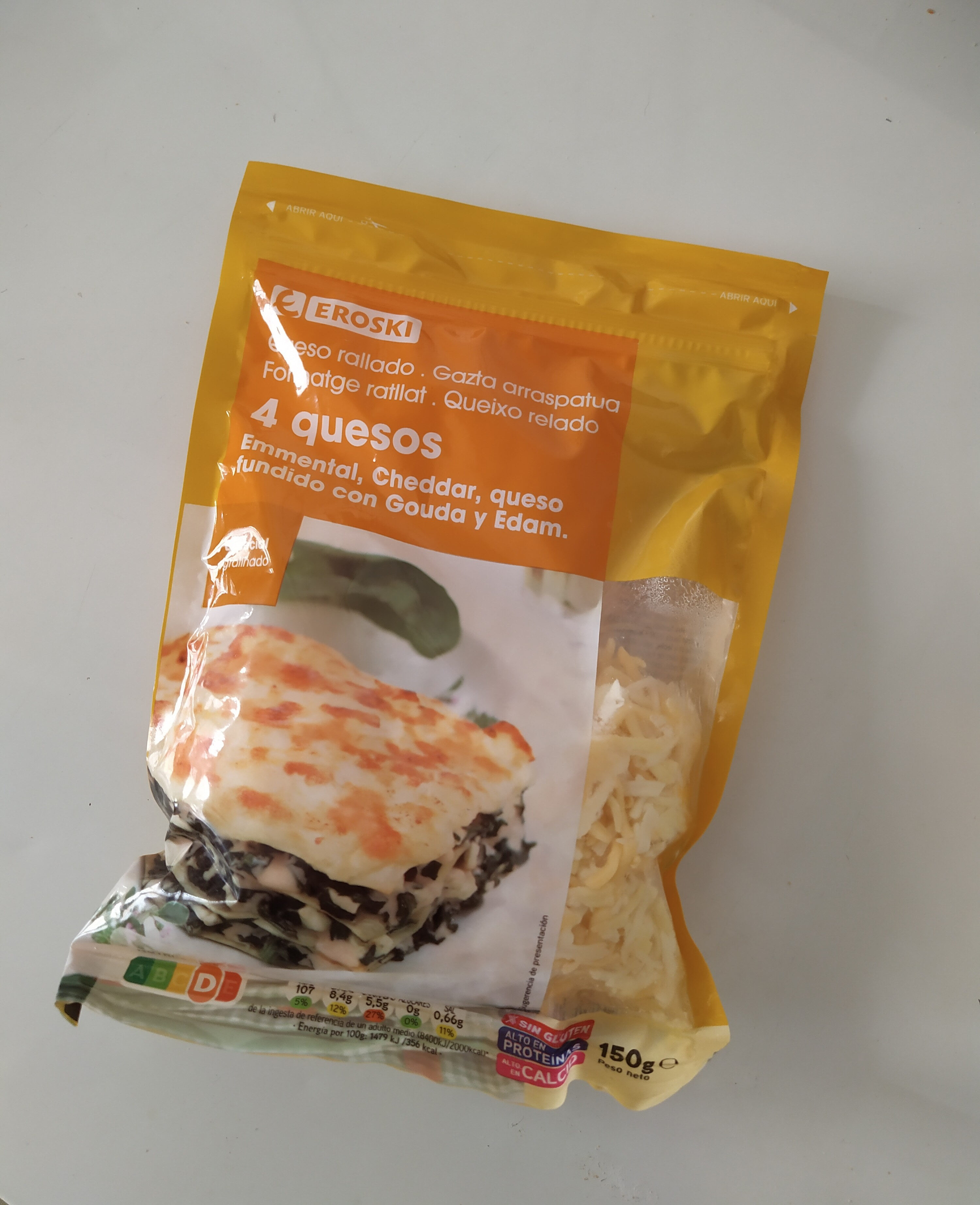 Queso rallado 4 quesos - Producto