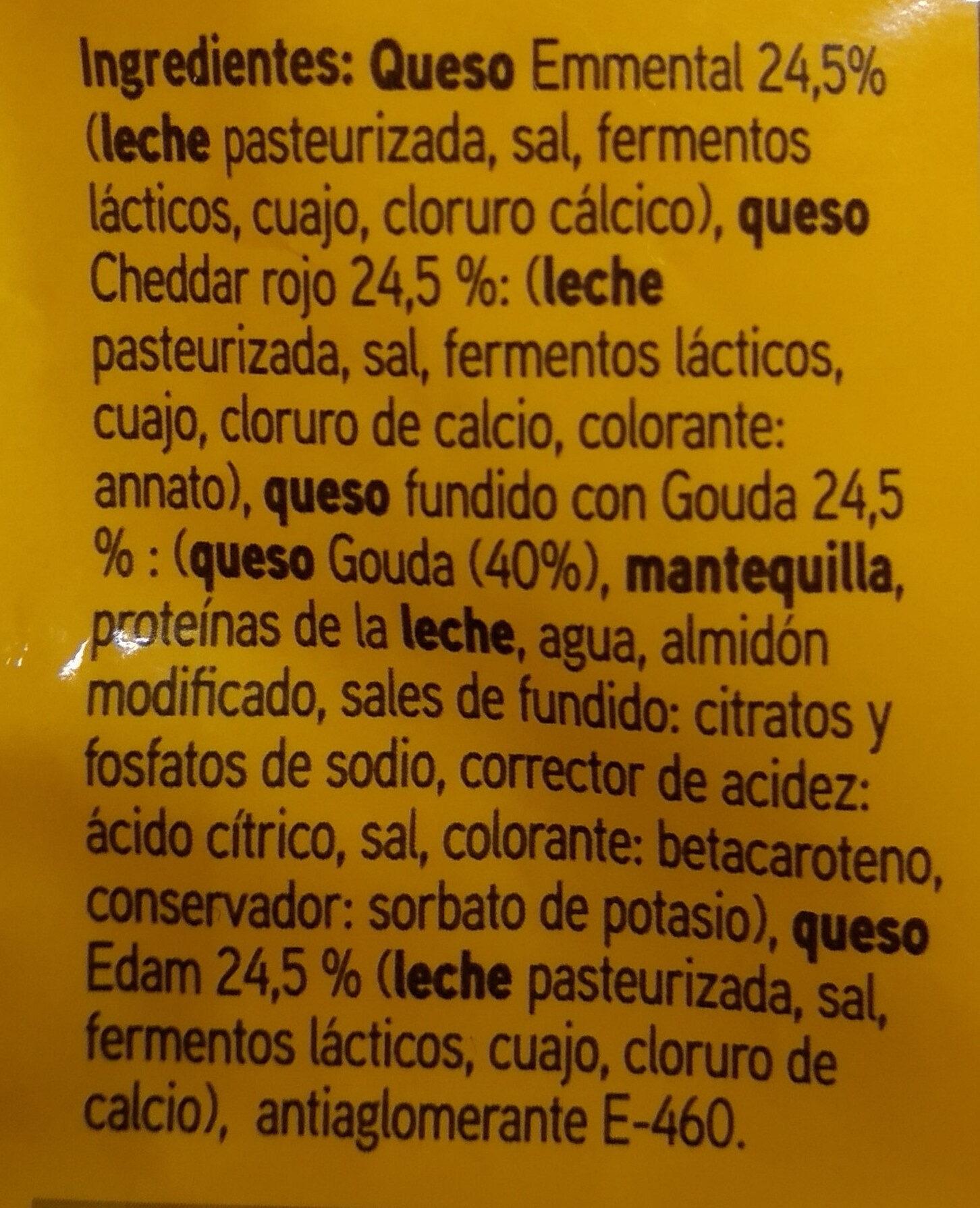 Queso rallado 4 quesos - Ingredientes