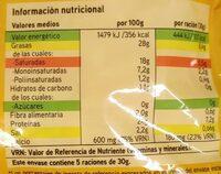 Queso rallado 4 quesos - Información nutricional
