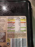 Carne picada de vacuno - Informations nutritionnelles - es