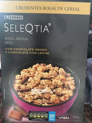 Seleqtia - Muesli con chocolate negro y chocolate con leche - Product - es