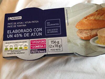 Paté de atún 45% - Producto