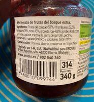 Mermelada frutas del bosque - Ingrediënten - es