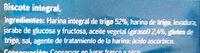 Sannia - Biscotes integrales - Ingredientes