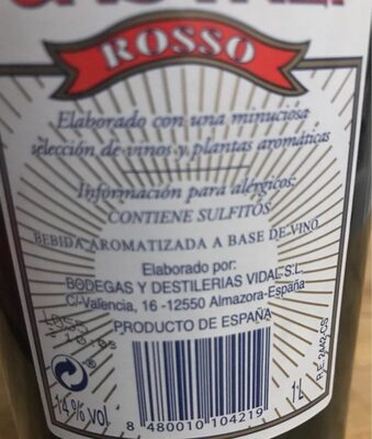 Rosso - Ingrédients - es
