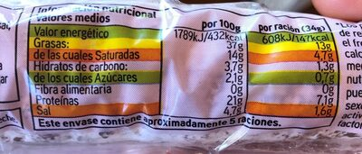 Fuet - Informació nutricional