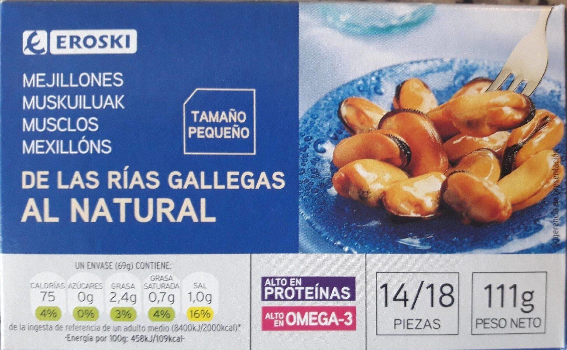 Mejillones de las rías gallegas al natural - Producte