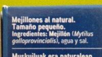 Mejillones al natural - Ingrédients - es